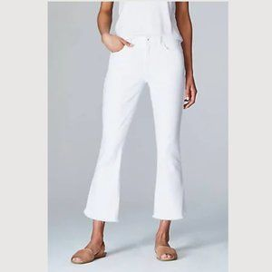 Michael Kors white boot cut crop jeans 10